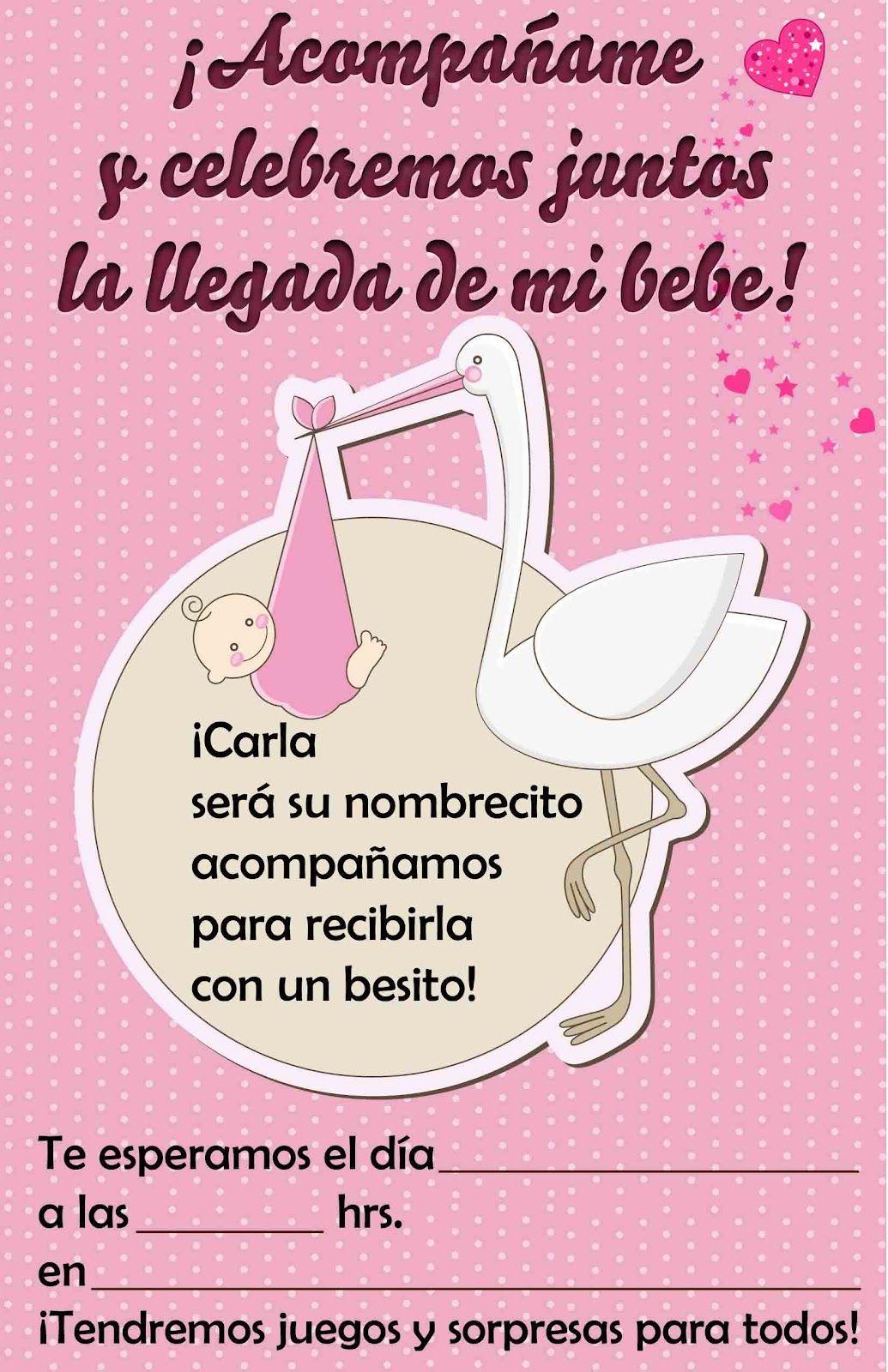 Baby Shower Invitaciones Para Editar
