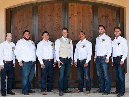 Best 25 Groomsmen jeans ideas on Pinterest  Groom in jeans Country wedding groom and Jeans