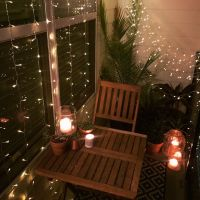 Small balcony decor ideas for an apartment. Hanging string ...