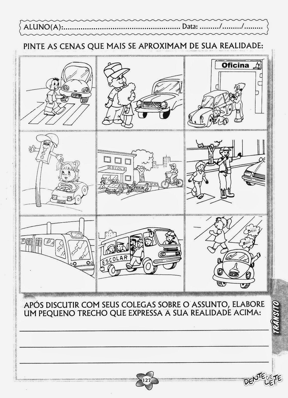 Projeto Transito Educacao Infantil Atividades Semaforo