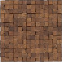 Wooden mosaic tiles! Found this company offering a variety ...