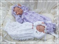 Lacy Bunting & Bonnet 9-14 inch doll/preemie baby-bunting ...