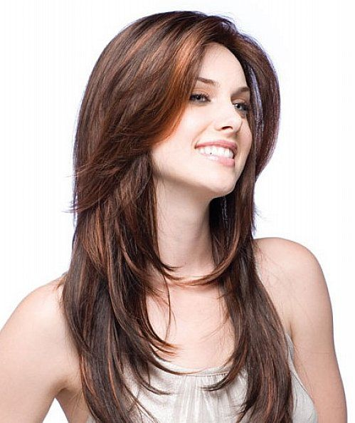 Long Hairstyles With Side Fringe A Nd Layers For Long Hair