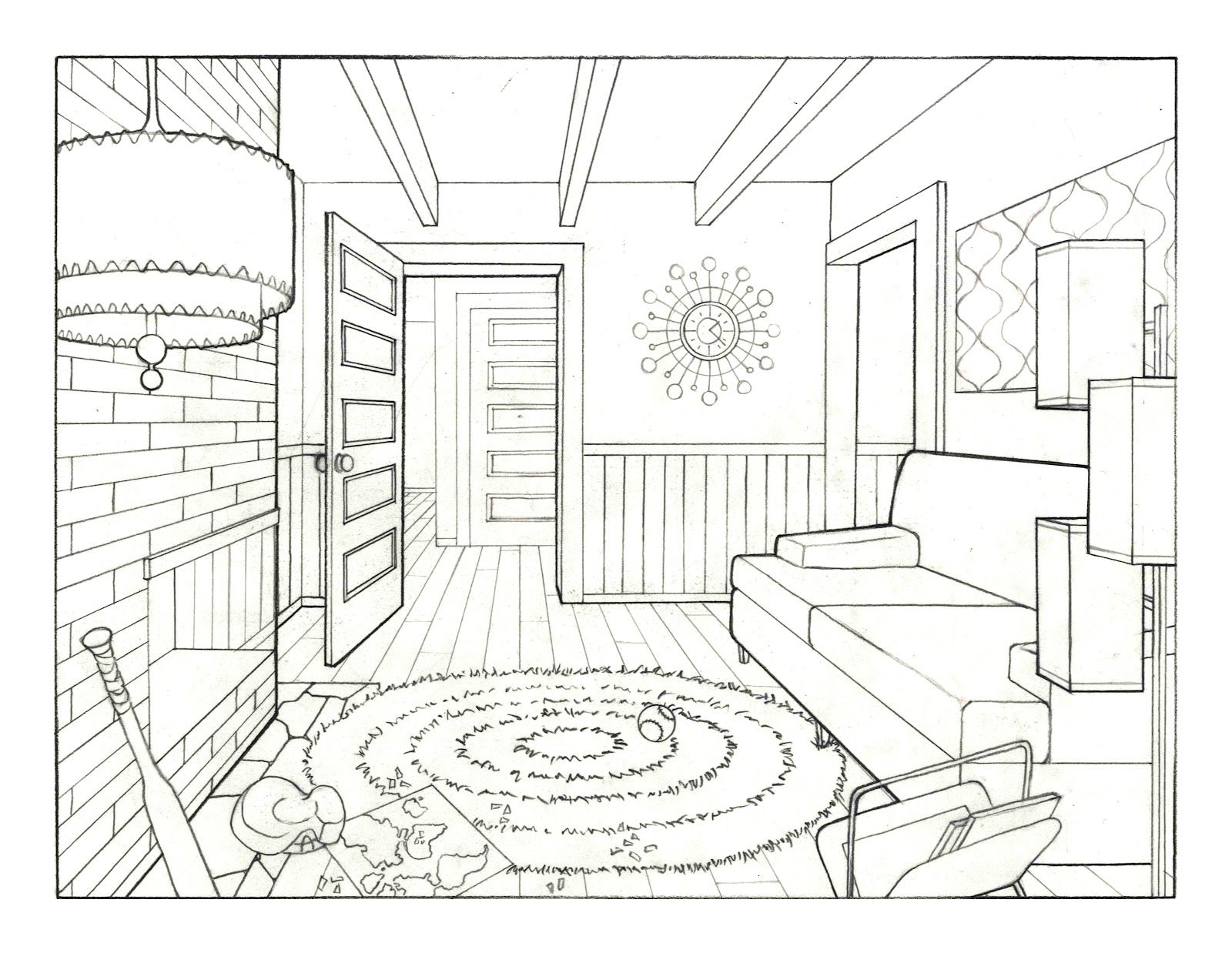 New Living Room Drawing Small Home Decoration Ideas