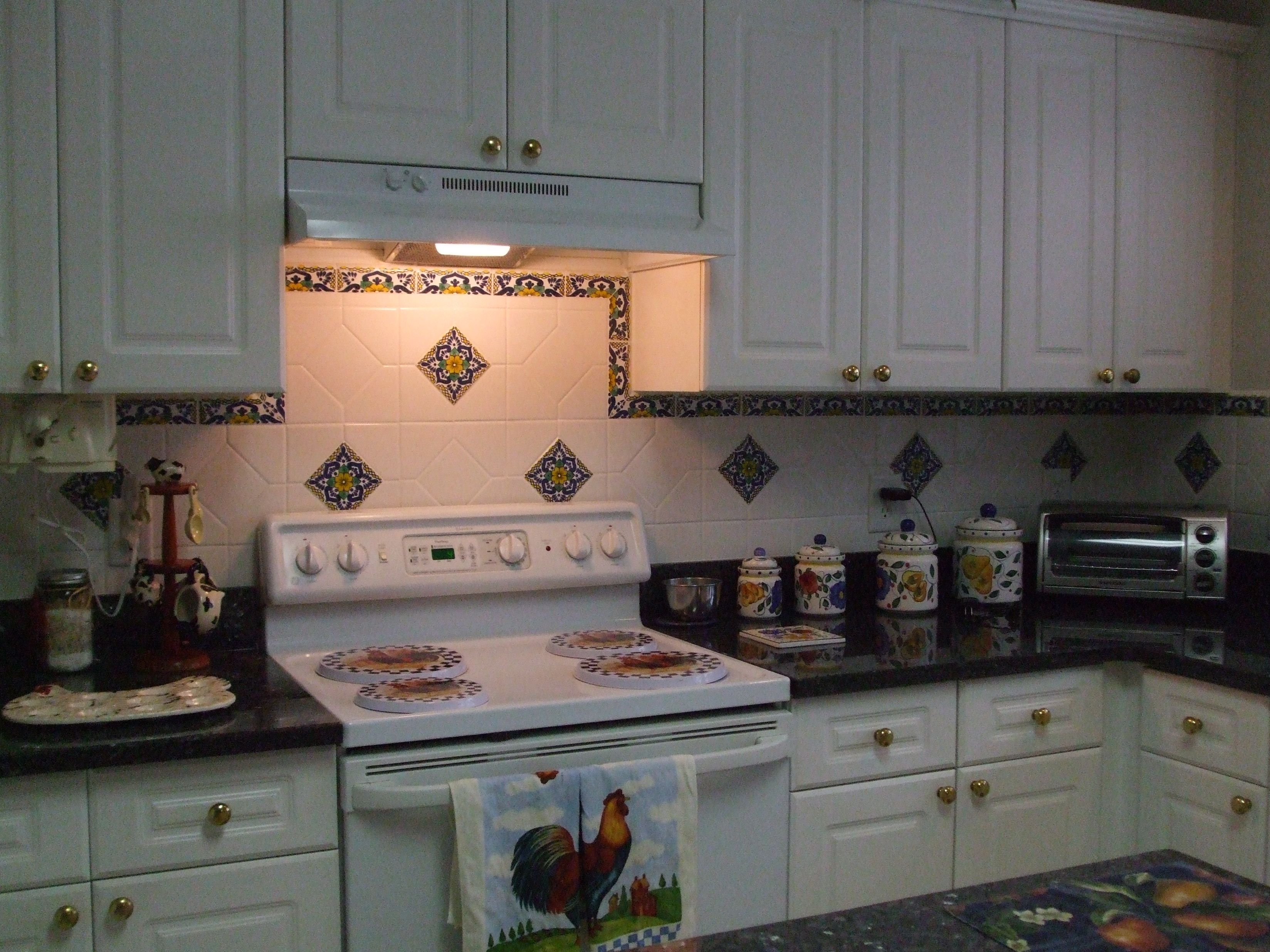 mexican backsplash tiles kitchen cabinets painted decorate your of colorful and gorgeous way using