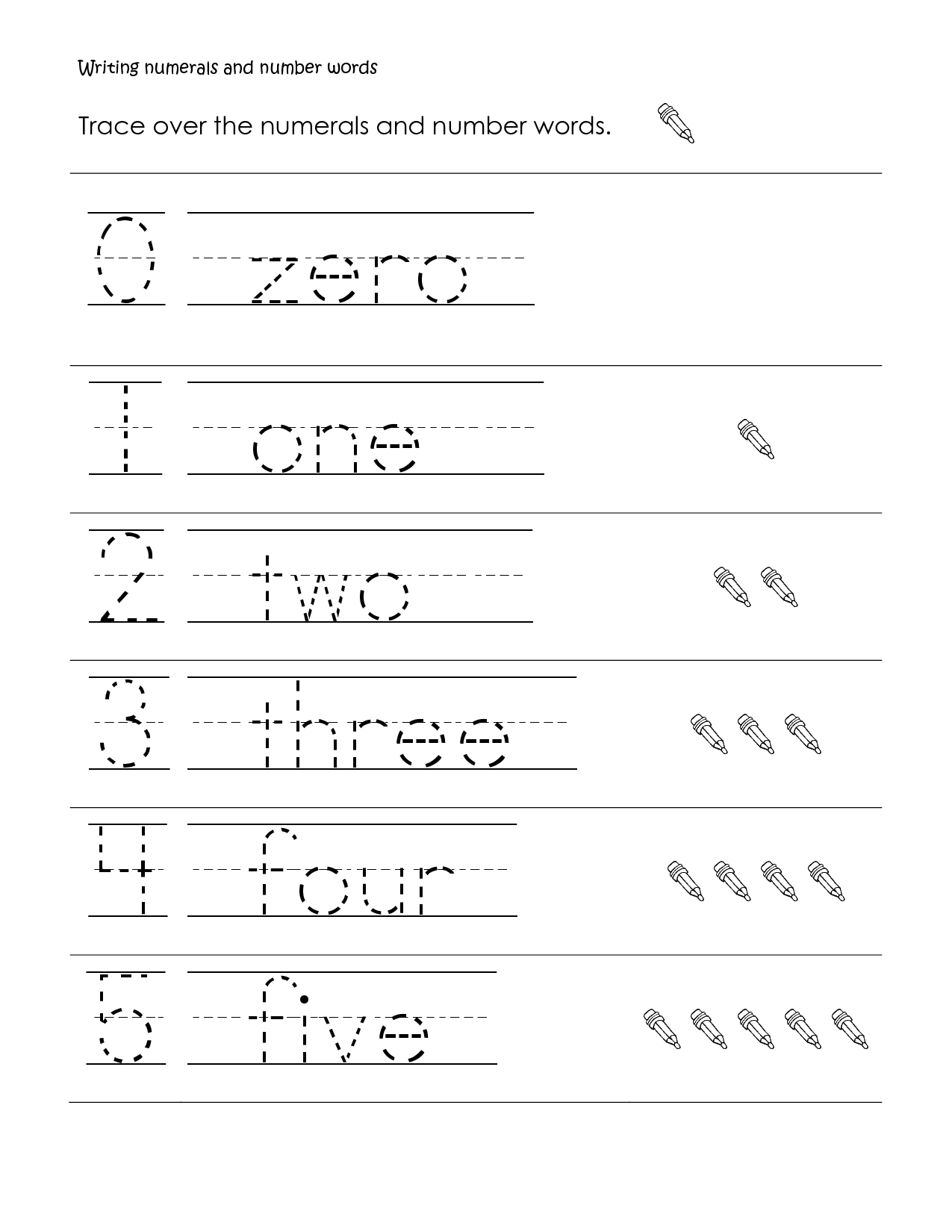 First Grade Handwriting Worksheets Printable