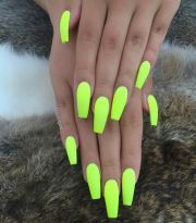 summer neon nails mani pedi