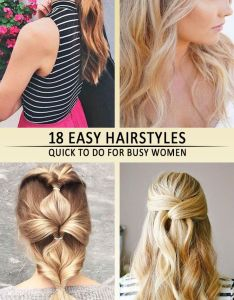 easy quick hairstyles for busy mornings also hair rh pinterest