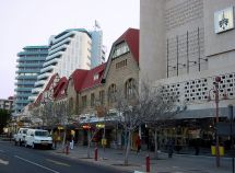 Independence Avenue Main Street In Downtown Windhoek