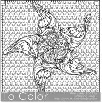 Printable Starfish Coloring Page for Adults, PDF / JPG ...