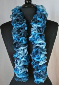 Knots-n-Knits: Crocheted Ruffled Scarves - Sashay vs ...