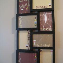 Walmart Kitchen Decor Cabinet Carpenter I Made The Dry Erase Board With 10 00 Frame