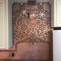 Inexpensive Backsplashes For Kitchens Elegant Kitchen Cabinets Las Vegas Penny-backsplash-carolyn (2) | Pinterest Penny ...