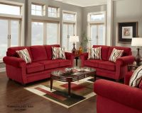 4180 Washington Samson Red Sofa and Loveseat @ www