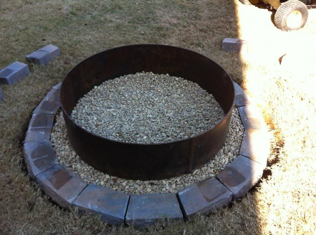 30 in Galvanized Round Fire Pit Ring  Fire Pit