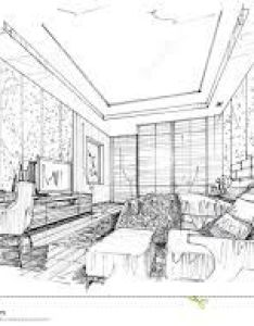 Sketch interior perspective bedroom black and white design also related image smallest house pinterest rh