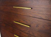 Mid Century Modern Oiled Walnut High Chest Dresser w ...