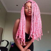 Pink Yarn Twists! love love love !! | Hair | Pinterest ...