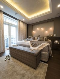 Master bedroom with beautiful Iiris LED-lights and ...