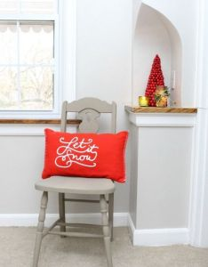 Christmas decorating ideas for  hallway love that mini red tree and the clay also rh pinterest