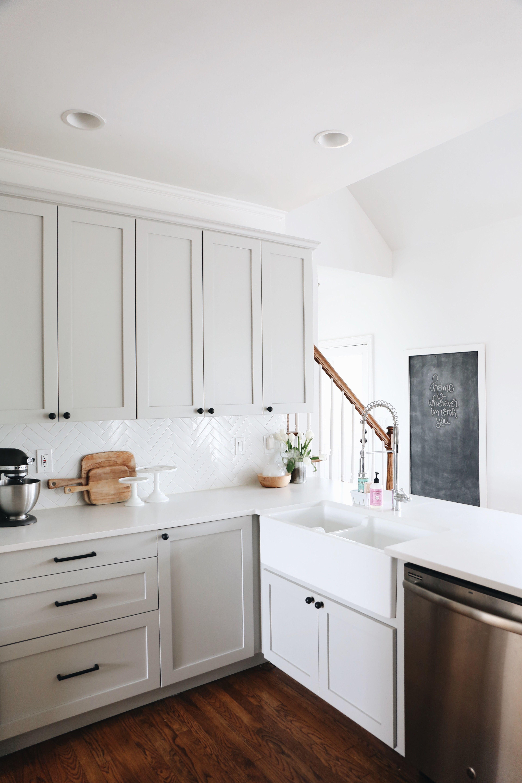 ikea kitchen counters round island our renovation details herringbone backsplash