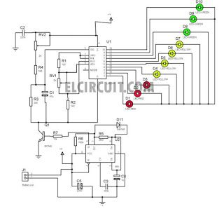 Simple Charging Circuit Monitor with 555 and LM3914