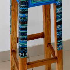 Hand Painted Wooden Chairs Hanging Chair Stand White Stool By Hc Wood Design