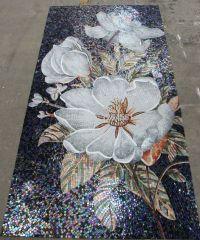 mosaic tile mural flowers - Google Search | Tiles ...
