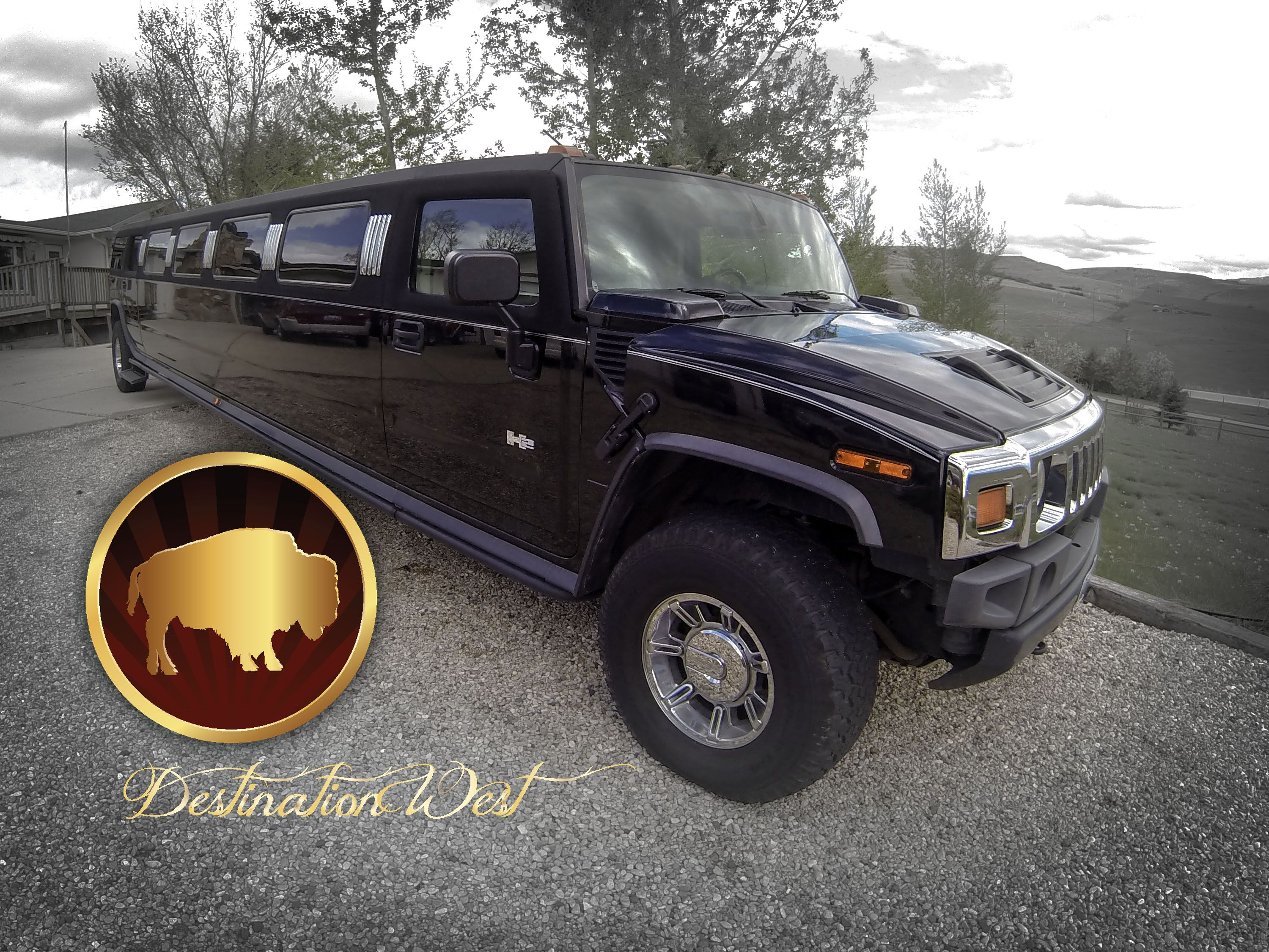"Destination West Limousine s 220"" Stretch Hummer H2 Limousine is"