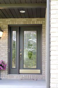 Beautiful full view storm door with sidelite