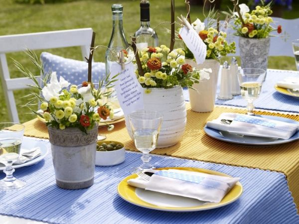 Decoration Appealing Colorful Simple Summer Table Decorations