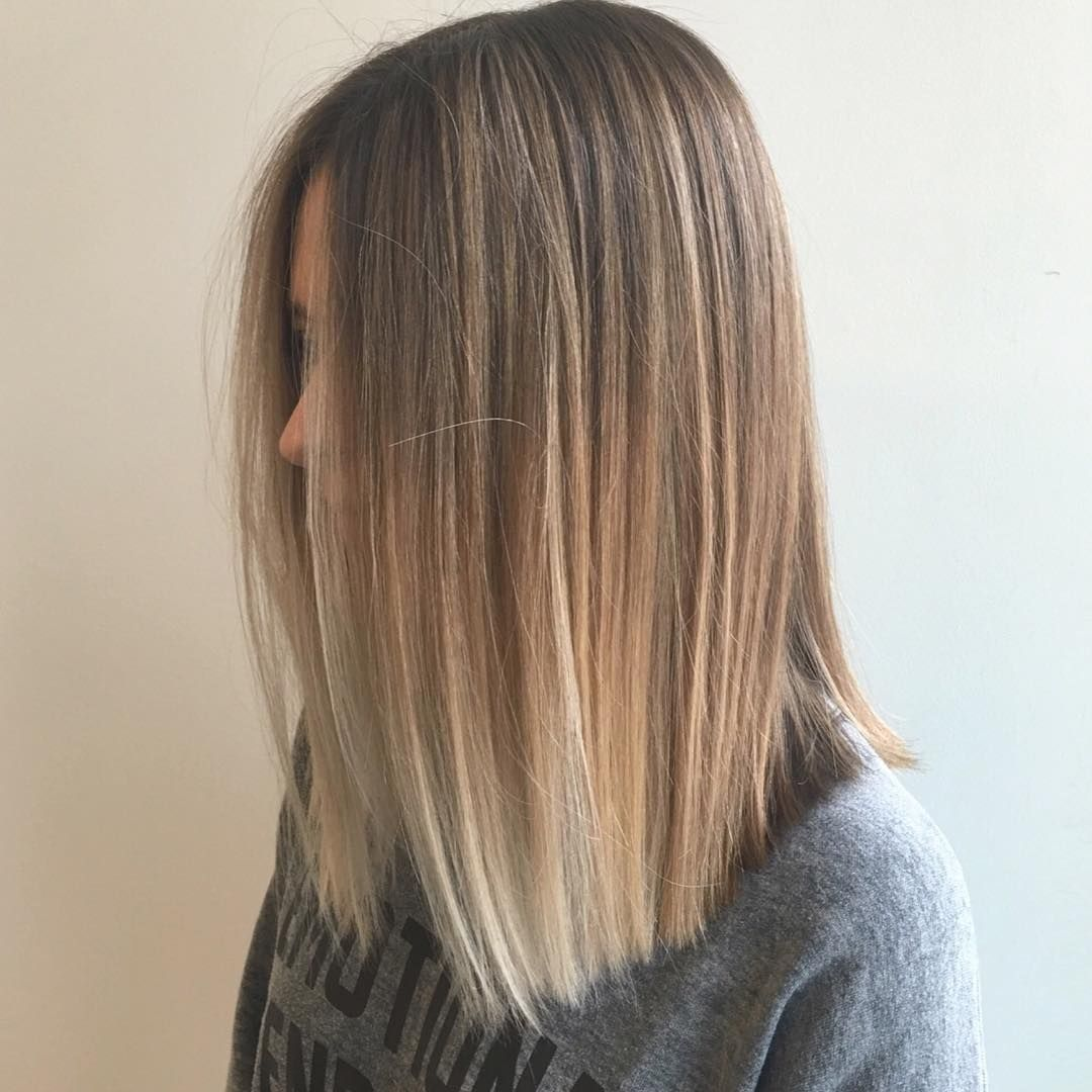 25 Alluring Straight Hairstyles for 2018 Short Medium  Long Hair  Balayage Instagram and