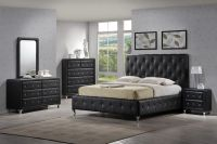 Modern Tufted Black bedroom set. | Bedroom Collections ...