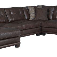 Bernhardt Cantor Sectional Sofa Leather Modern Uk Foster ...