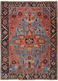 Furniture : Heriz Serapi Rug Antique Persian Carpet By ...