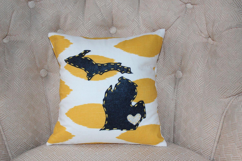 Michigan Pillow  Home  Pinterest  Pillows Dorm and