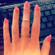 pink tip and pretty nails