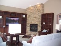 corner fireplace vaulted ceiling