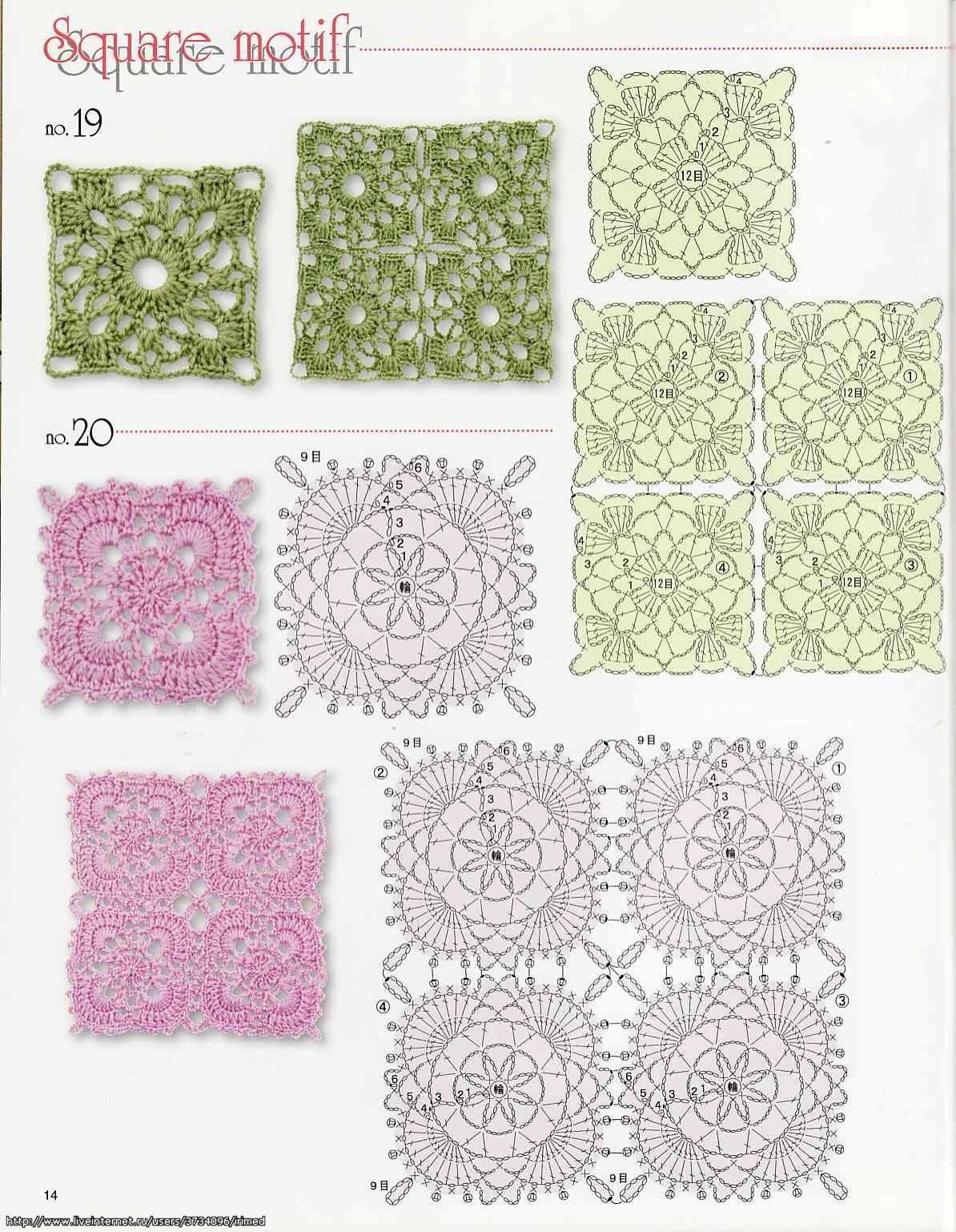 crochet granny square diagram yamaha raptor 660 wiring squares lace motif Радикал Фото Картинка