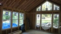 simple vaulted family room addition on a rambler ...
