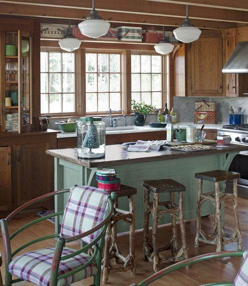 Expanding A Cozy Log Cabin Bar Stool Stools And Cabin Kitchens