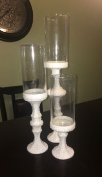 DIY Wedding Centerpieces Dollar tree candles holders and