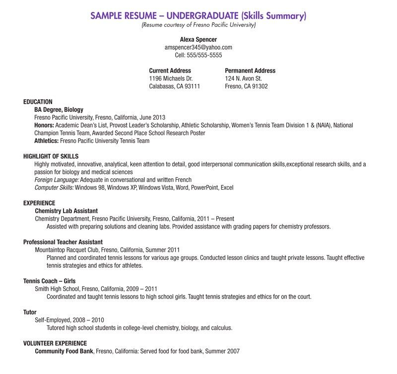 Resume Template For School Student 10 High School Resume