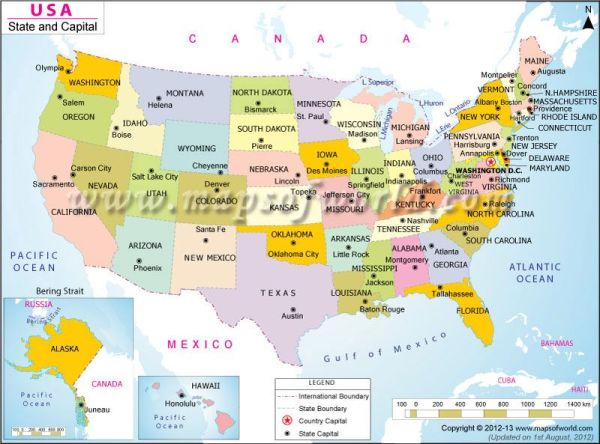 A very good map to find out the states and their