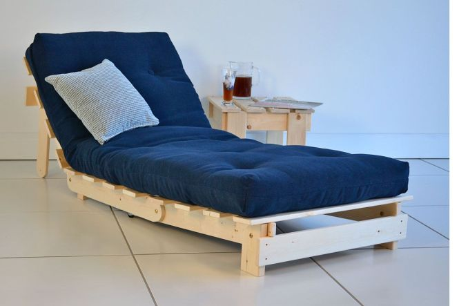 Modern Futon Chairs With Blue Seat