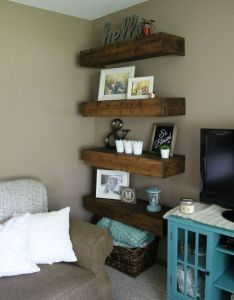 Decorating also diy wood shelves home touch ups pinterest rh