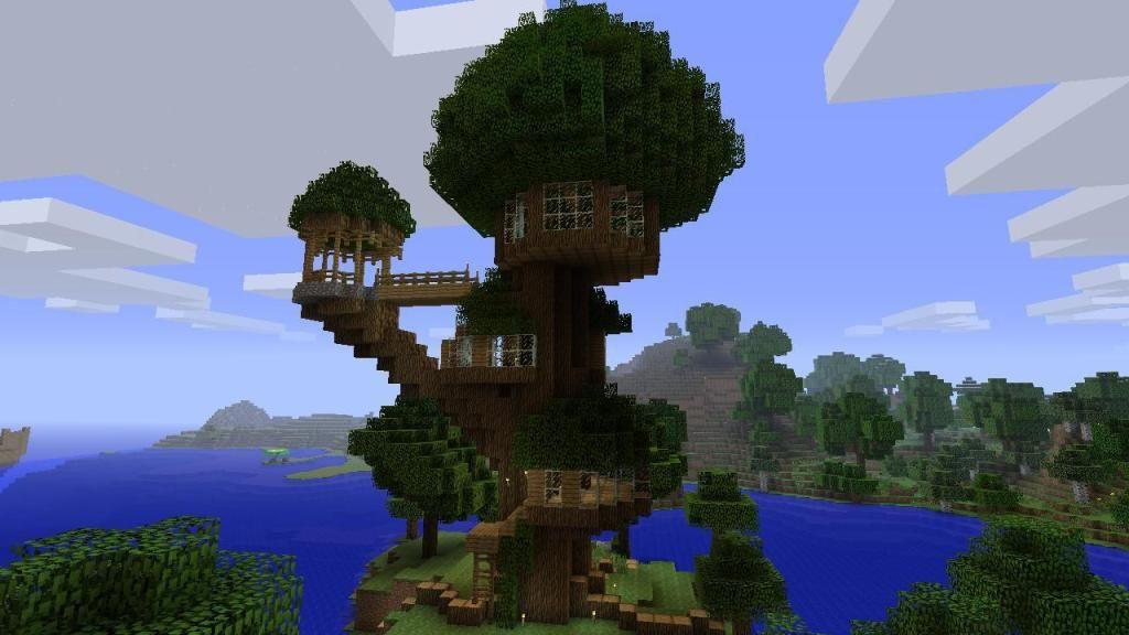 Minecraft Treehouse Blueprints Projets à Essayer Pinterest