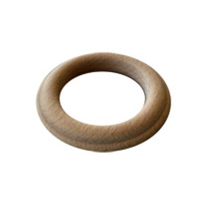 Fluted Unfinished Wood Curtain Rings WESTERN WOOD COLLECTION