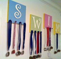 DIY Swim Medal and Accessory Holder - Easy and creative ...