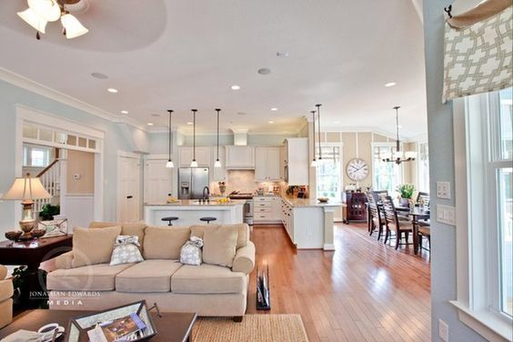 Kitchen/dining/family Room Combo